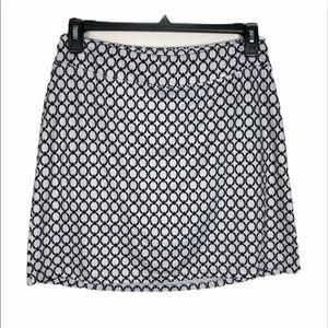Segments Luxe Black/White Patterned Skort Skirt